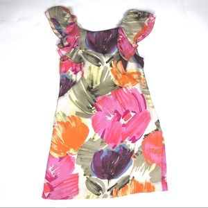 BCBG Max Azria size 6 Silk Floral Dress
